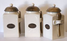 buy kitchen canisters country kitchen tea coffee and sugar canisters each with a wooden