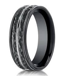 hammered wedding band hammered benchmark black cobalt chrome wedding band for men