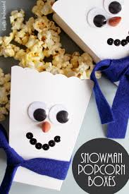 diy popcorn box snowman craft step by step consumer crafts