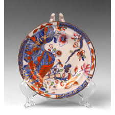 early 19th c spode china imari pattern saucer from piatik on ruby