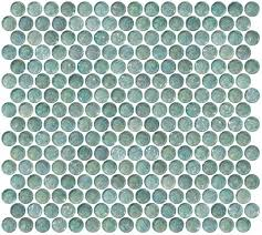 glass tile  penny round aqua blue iridescent glass tile with penny round aqua blue iridescent glass tile from susanjabloncom