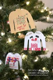 sweater diy ornaments sweater