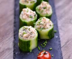 cuisiner concombre bouchées de concombre au crabe recette de bouchées de concombre au