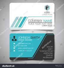 blue technology modern creative business card stock vector