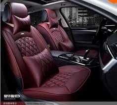 housse de siege en cuir pour voiture marque nouveau style de luxe en cuir 5 couleur 3d housses de siège