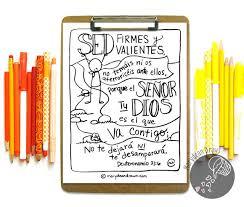 spanish bible verse coloring deuteronomio 31 6 la