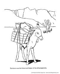 farm animal coloring pages printable burro coloring