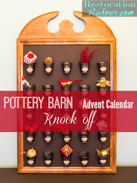 pottery barn advent calendar knock off restoration redoux