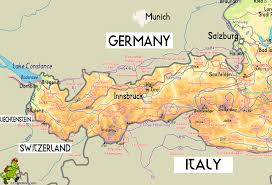 Map Of Switzerland And Germany by Austria