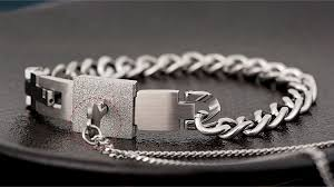 mens personalized necklace personalized lock and key matching couples bracelets