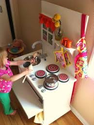 Pretend Kitchen Furniture Another Diy Play Kitchen Furniture Variations Are Endless In