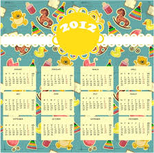 free 2012 calendar design template 2 free vector download 17 049