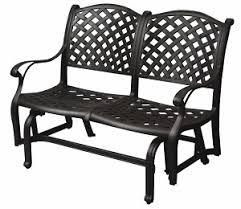 Patio Loveseat Glider Furniture Glider Bench Cast Aluminum Loveseat Nassau