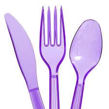 plastic utensils bulk translucent purple plastic utensils 48 ct bags at