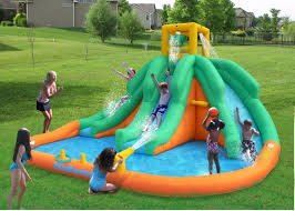 water slide inflatable banzai aqua drench 3 in 1 inflatable