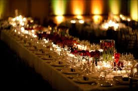 Centerpieces With Candles For Wedding Receptions by Romantic Candle Lit And Rose Wedding Reception Centerpieces