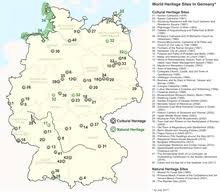 map germnay list of world heritage in germany