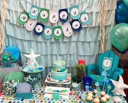 whale theme under the sea birthday party ideas photo 5 of 16