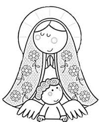 modern virgin guadalupe coloring pages virgencita lady