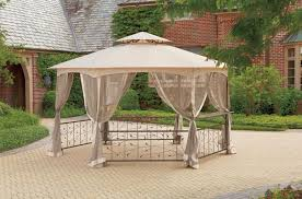 Patio Canopy Home Depot by Improbable Outdoor Gazebo Curtains Home Depot Garden Landscape