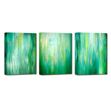 abstract decorative oil painting green canvas oil painting bright