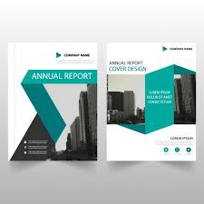 brochure templates for business free download business brochure template with blue ribbons vector free download