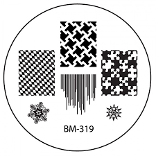 series 3 nail stamping plate bm319 puzzle pieces abstracts