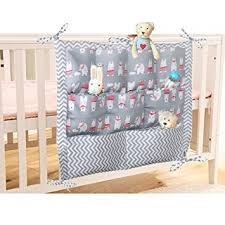 Cot Changing Table Lovely Baby Nursery Organiser Cotton Hanging Storage Bag For