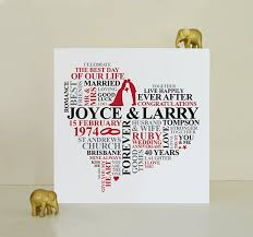 40 wedding anniversary gift canvas ruby anniversary gift 40th wedding anniversary gift