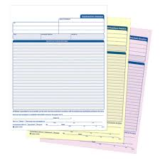 contractor invoices contractor invoice 3 part carbonless 50 pk