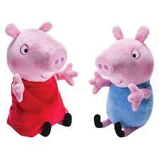 Peppa Pig Plush Peppa Pig Peppa George Giggle And Wiggle Plush 2 Pack Target