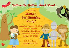 wizard of oz birthday party invitations ideas u2013 bagvania free