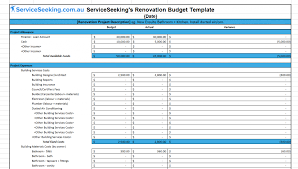 renovations budget template renovation budget template serviceseeking blog