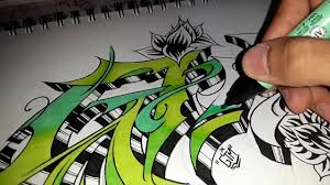 graffiti sketch coloring time lapse youtube