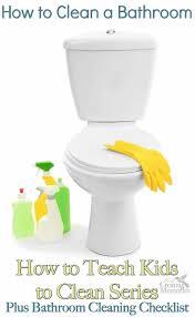 how to clean a bathroom bathroom cleaning checklist printable