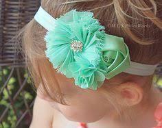 mint green headband cool mint green baby girl headband pastel mint green shabby chic