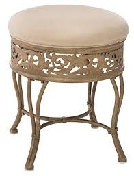 Vanity Stool For Bathroom amazon com hillsdale villa iii vanity stool antique beige