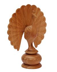 peacocks home decor bulk wholesale 5 5 u201d hand carved sculpture figurine of peacock