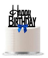 happy birthday cake topper birthday royal blue bow cake decoration cake topper