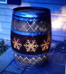 wine barrel porch light for sale whiskey barrel lighting idea backyard garden pinterest whiskey