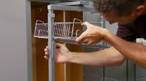 how to install a pantry pullout cabinet organizer youtube