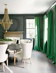 Green And Gray Curtains Ideas Emerald Green Curtains Grey Walls Dining Room Large