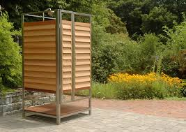 Teak Outdoor Shower Enclosure by Simple Outdoor Shower Enclosure Diy Outdoor Shower Enclosure