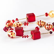 beaded red necklace images Jema gold red beaded necklace classic style jpg