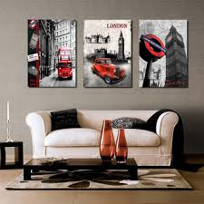online shop 3 pieces sell modern wall painting london clock