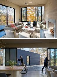 a house designed for a family to live in the woods of virginia