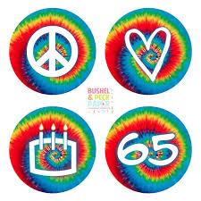 peace love u0026 birthday cake party stickers