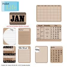 pocket calendar cards