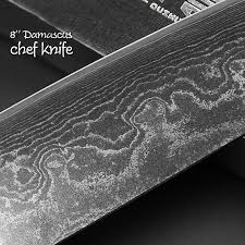 Japanese Damascus Kitchen Knives Damascus Steel Knife Set 2 Piece Black Edition Chef Cleaver