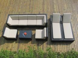 Sectional Sofa Chaise Lounge by Genuine Ohana Outdoor Sectional Sofa And Chaise Lounge 9pc Patio